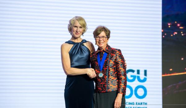 Susan Lozier, AGU president-elect, and PICS ED Sybil Seitzinger