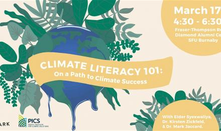 Climate Literacy event at SFU March 17th